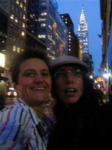 Chris and Hinemoana in New York