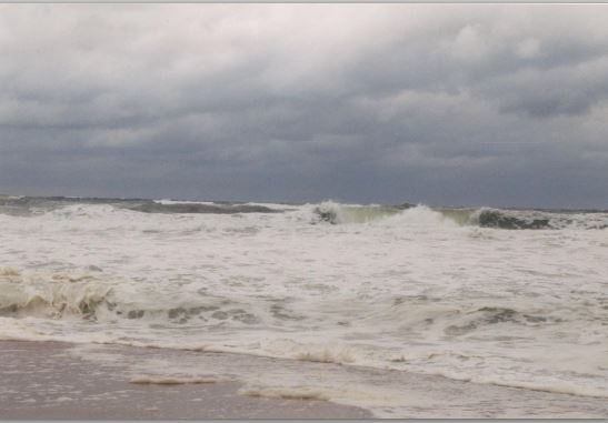 Rough water at the Outer Banks by Walter Hogan
